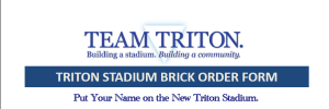Triton Stadium Brick Program